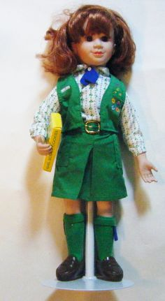"Vintage Tender Memories ""Girl Scout"" Doll Selling Girl Scout Cookies On Stand In Original Box by parkledge on Etsy"