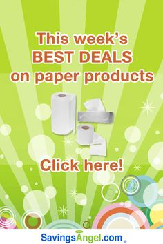 Stock-up prices abound on the best paper product deals this week! http://savingsangel.com/blog/2016/07/27/stock-up-prices-abound-best-paper-product-deals/ #extremecouponing #grocery