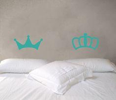Corona rey  y reina sticker 078DB @dawanda_es