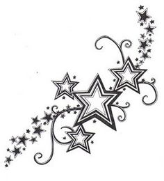 Kinda like what I want but I want lot's of colors and lot's of swirls and different stars as well as these on my foot.