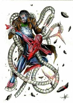 Spiderman vs Doc Octopus by Anthony Darr