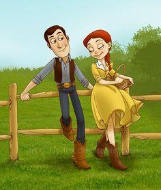 Toy Story Bo Peep   Jessie é uma meiga e doce garota rural. Vivendo uma vida pacata e ...