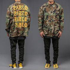 check out CAMOUFLAGE I FEEL... at http://www.benzinoosales.com/products/unisex-camouflage-i-feel-like-pablo-army-camo-jacket-military-tlop-west?utm_campaign=social_autopilot&utm_source=pin&utm_medium=pin plus 10% OFF and FREE SHIPPING