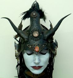Raven Clanleather helm by VincentCantillon on Etsy, $185.00