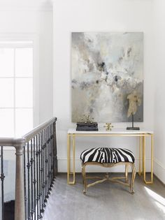 A Swoon-worthy Hallway Vignette by Huff Harrington for the Southeastern Designer Showhouse, via @sarahsarna.