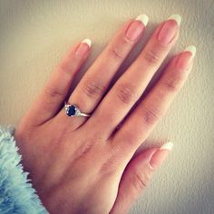 French Manicure using IBD Just Gel 'Goodie Two Shoes' and 'Whipped Cream'