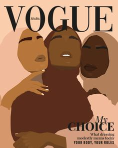 Illustration of three black women wearing hijab. It shows feminism: it's wearing whatever you want. The power of the choice in our society and shatter all stereotypes made towards them. This vector illustration is made in a brown and nude color palette. Black Girl Art, Black Women Art, Black Art, Art Girl, Black Girl Aesthetic, Brown Aesthetic, Aesthetic Art, Bd Pop Art, Frida Art
