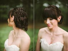 updo with bangs ~ we ❤ this! moncheribridals.com
