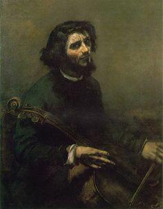 portraits d'artistes: Gustave Courbet, autoportrait en violoncelliste, 1847