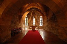 The lower chapel of the medieval castle
