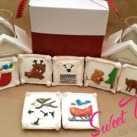 Medium square cookies - sweetthingsbywendy.ca Square Cookies, Edible Favors, Party Favours, Joy To The World, Time Of The Year, Gift Wrapping, Medium, Sweet, Happy