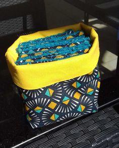 Tuto tout simple : le petit panier en tissu (ou la petite panière...ou la petite corbeille...à couches, vide-poches, ou à tout ce qu'on veut) - Huguette Huguette