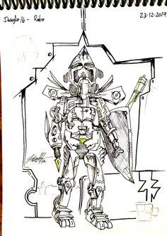 desafio dos 30 #desenhos #draw #sketchbook por #fabermota #robot
