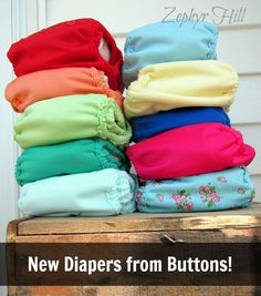 New prints and colors from Buttons Diapers! A practical and affordable system with one-size covers and inserts. @buttonsdiapers
