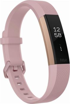 Shop Fitbit Alta HR Activity Tracker + Heart Rate (Small) Soft Pink/Rose Gold at Best Buy. Find low everyday prices and buy online for delivery or in-store pick-up. Fitbit Alta, Pink Fitbit, Best Fitness Watch, Fitness Watches For Women, Waterproof Fitness Tracker, Gold Rate, Louis Vuitton, Pink, Health