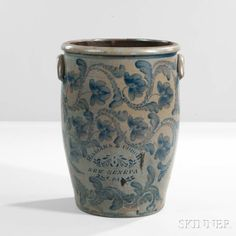 Thirty-gallon Stoneware Crock   Sale Number 2985B, Lot Number 356   Skinner Auctioneers