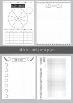 PRINTABLE BULLET JOURNAL ---------------------------------------- Love the way…