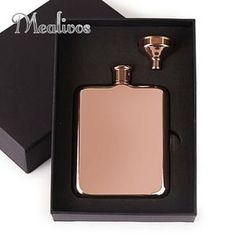 MEALIVOS Hip Flask in Rose Gold Model Number: mini wine bottle Name: MealivosBody Material: 304 Steel(food safe)Capacity: 6 oz Mini Wine Bottles, Gold Models, Flask, Barware, Copper, Rose Gold, Stainless Steel, Collection, Products