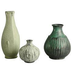 Svend Hammershøi for Herman Kähler, Three Vases, Denmark 1920s