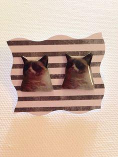 Mürrische Katze Ohrstecker  mürrisch Cat Post von CrimeDoctorCrafts