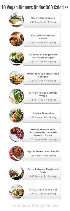 10 Vegan Dinners Under 300 Calories