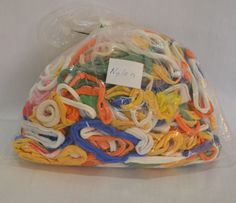 1/3 Pound Assorted Colors Nylon Potholder Weaving Loops 5 1/3 oz Easier to Learn