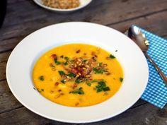 SMOOTH COOKING : KVĚTÁKOVÝ KRÉM S PRAŽENÝMI SEMÍNKY Soup, Smooth, Cooking, Ethnic Recipes, Kitchen, Soups, Brewing, Cuisine, Cook