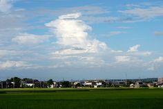 菰野町西菰野地区 入道雲 平成24年8月5日撮影