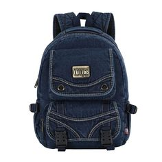 Miss Sunglow's Washed Jeans Denim Backpack Retro Canvas Sport Travel Rucksack (Blue) Denim Backpack, Jansport Backpack, Fashion Backpack, Casual Bags, Denim Jeans, Fashion Brands, Backpacks, Retro, Canvas