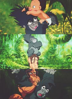 Tarzan and Terk. That awkward moment when you find out that Terk is actually a girl and NOT a guy