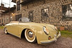 Yellow Porsche 356 #porsche I could live with this color yellow Porsche!