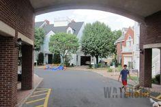 Under bridge view of community