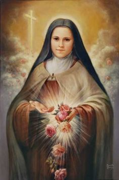 St Therese of Lisieux.Pray for Us+ Religious Pictures, Religious Icons, Religious Art, Catholic Art, Catholic Saints, Patron Saints, Catholic Prayers, Sainte Therese De Lisieux, Ste Therese