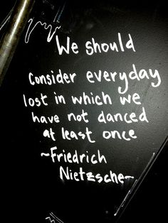 Dont be lost. Dance!