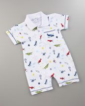 Aviator-Print Playsuit ( I must have this for Beckett!)
