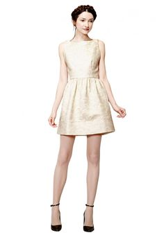 LILLYANNE PUFF MINI DRESS in IVORY by Alice + Olivia