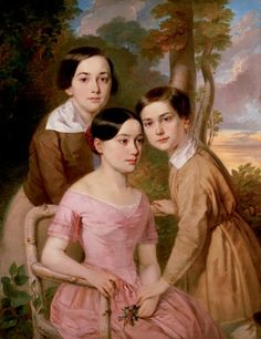 1848 Sándor Kozina - Portrait of Three Children (The Pejacsevics Children) (Portrait of Three Siblings)