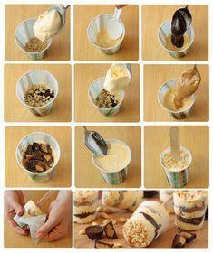 Uma ótima pedida para aproveitar um tempo com as crianças ou até mesmo para inovar na hora de servir o sorvete, é fazê-lo no copinho.