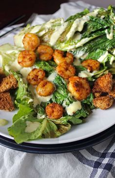 Pan Seared Chipotle Shrimp with Grilled Romaine and Homemade Caesar Dressing. Get the recipe at Whole Food | Real Families, www.wholefoodrealfamilies.com. #MySignatureDish #ad @calphalon