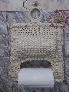 CrochetToilet paper holder