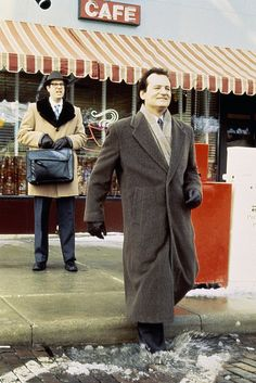 Long coats are a cute trend for the highly fashionable, as shown by Bill Murray in Groundhog Day.
