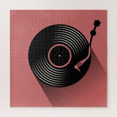 Shop Vinyl Record Player Jigsaw Puzzle created by CollectingRaindrops. Record Player Tattoo, Vinyl Record Player, Vinyl Records, Music Logo, Vinyl Music, Music Wall, Make Your Own Puzzle, Landscape Concept, Custom Gift Boxes