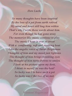 Pet Loss Sympathy and Poetry Cards