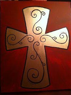 Handpainted Cross on Canvas