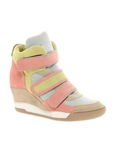 Ash Alex Multicoloured Wedge Trainers / ASOS
