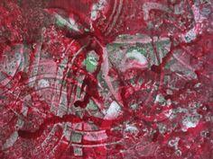 "Liquid acrylic on canvas  ""Attraction""  12 x 16""  by © Stephanie Holznecht"