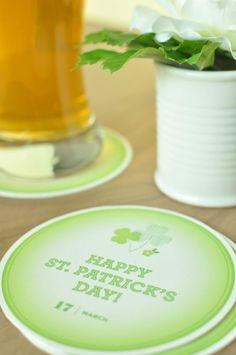 Shamrock Coasters | Cool St. Patrick's Day Party Decorations | DIY Projects