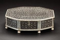 19th c inlaid box South India