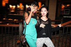 Tolula Adeyemi and Eiko Hara at the Kanon-sponsored launch party for Ponystep Magazine