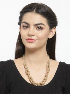 This Charming Neckpiece Is Neat And Simple For Those Who Wish For Fashion Jewelry Collection. Match This Jewelry With Any Of Your Outfit And Flaunt Your Style. Fashion Jewelry Stores, Copper Necklace, Jaipur, Party Wear, Jewelry Collection, Braids, Jewellery, Chain, Pretty